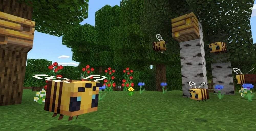 Пчелы в игре Майнкрафт