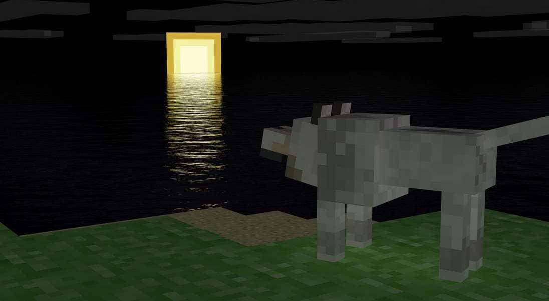Волк в игре Майнкрафт