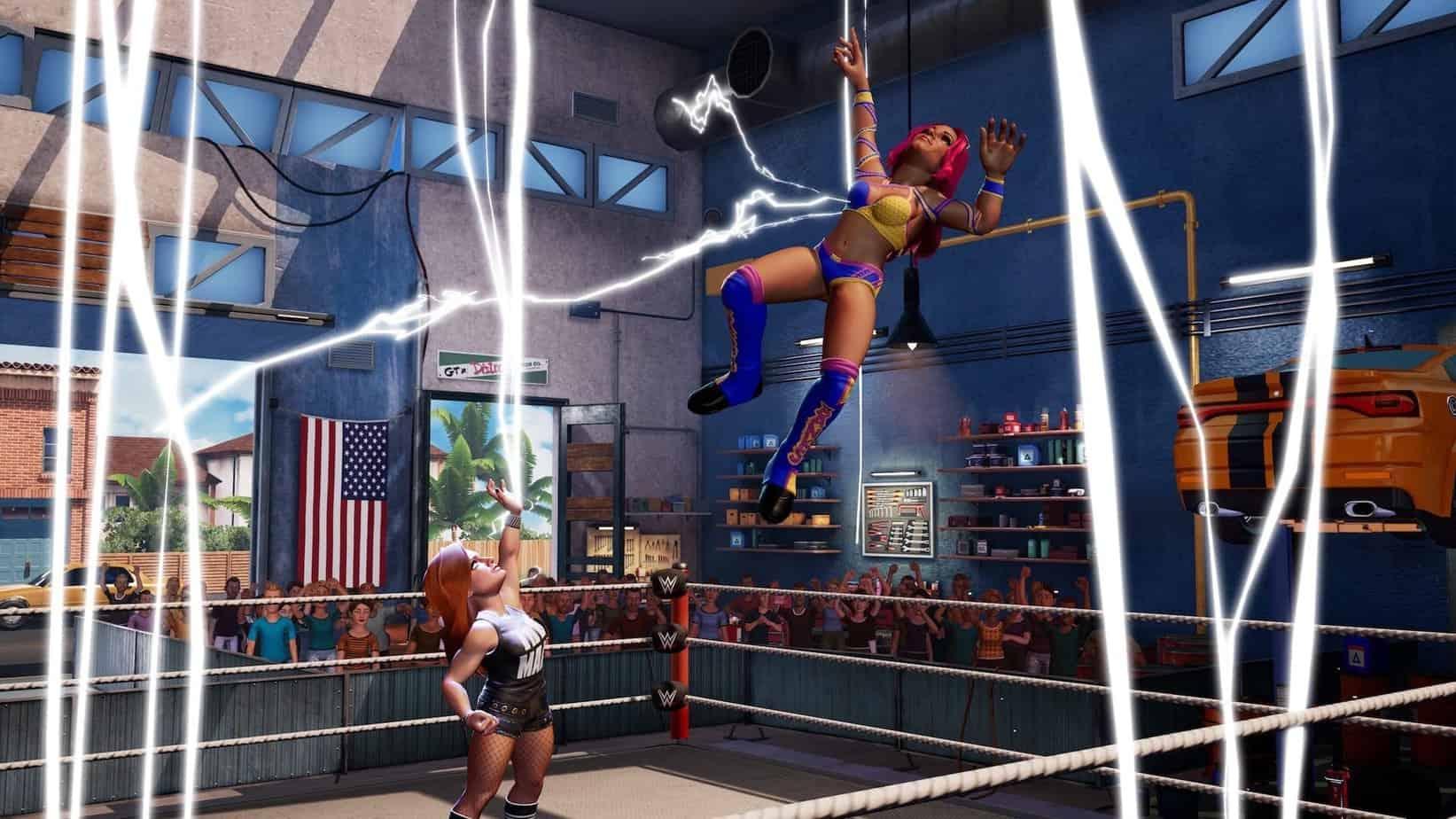 WWE 2k Battlegrounds бои в игре