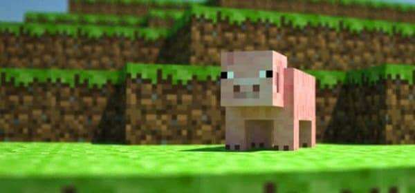 Поиск свиней в Minecraft