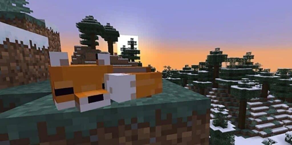 Поиск лисы в игре Minecraft