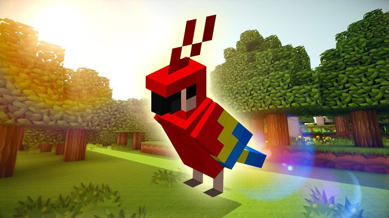 Попугай Minecraft