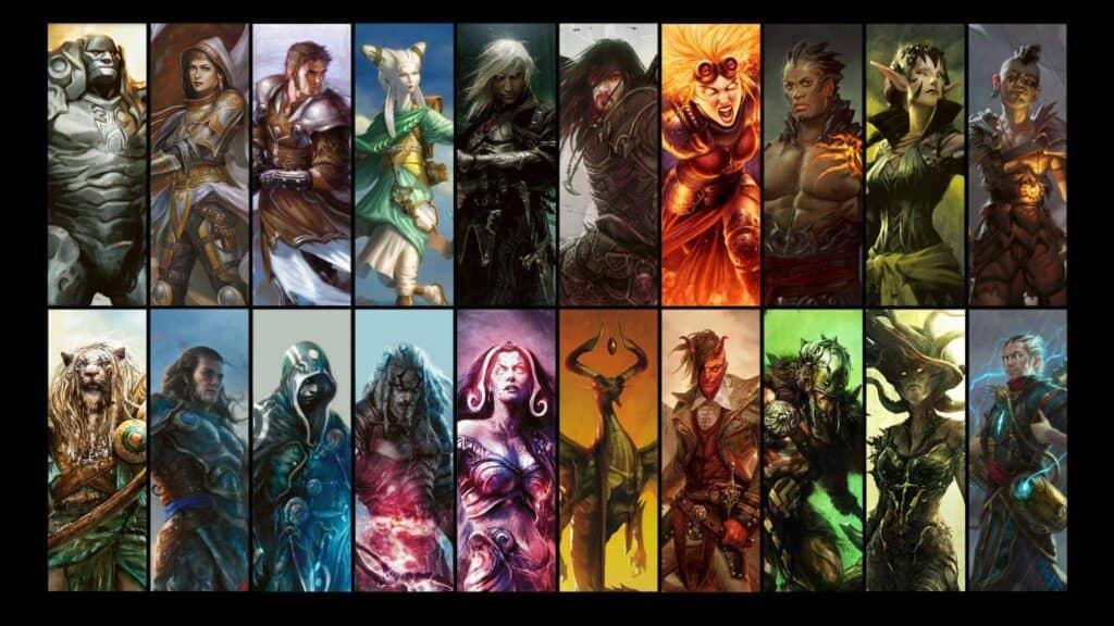 Magic The Gathering списки персонажей