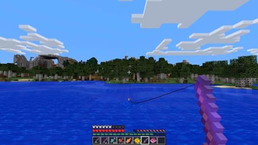 Рыбалка в игре Майнкрафт