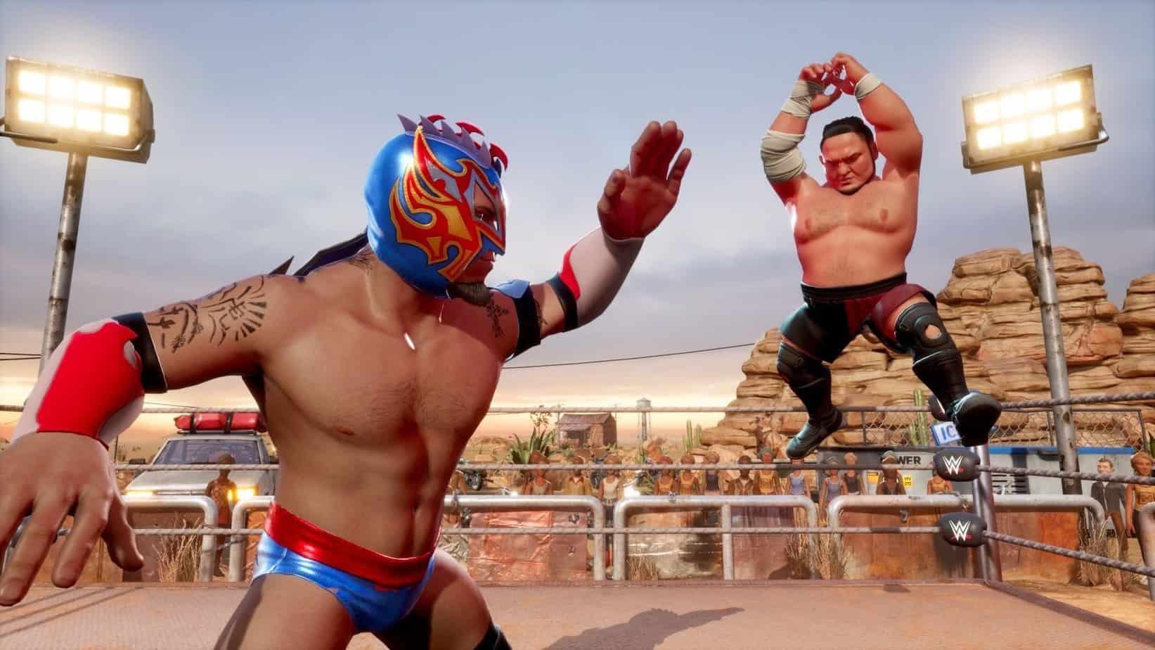 WWE 2k Battlegrounds виды режимов