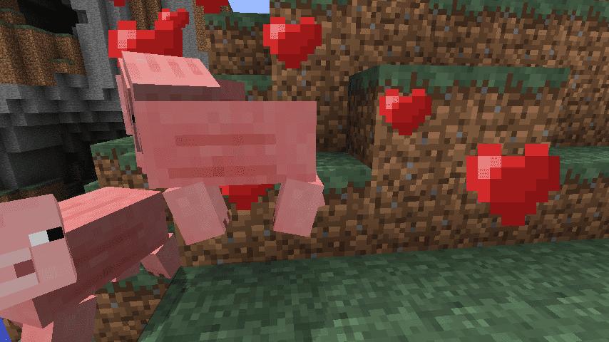 Появление потомства у свиней Майнкрафт