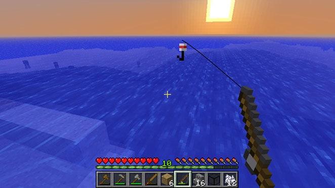 Ловим рыбу в игре Майнкрафт