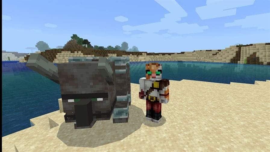 Моб Страйдер в Minecraft