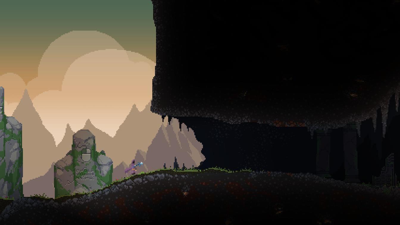 Noita пиксельная графика