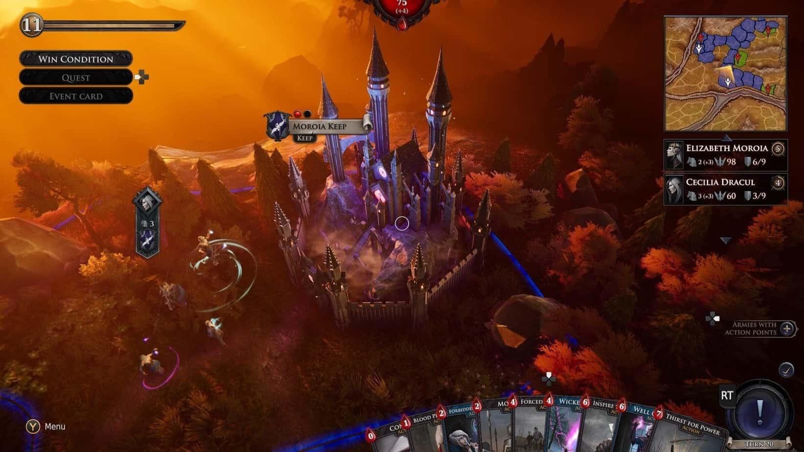 Immortal Realms: Vampire Wars интерфейс игры