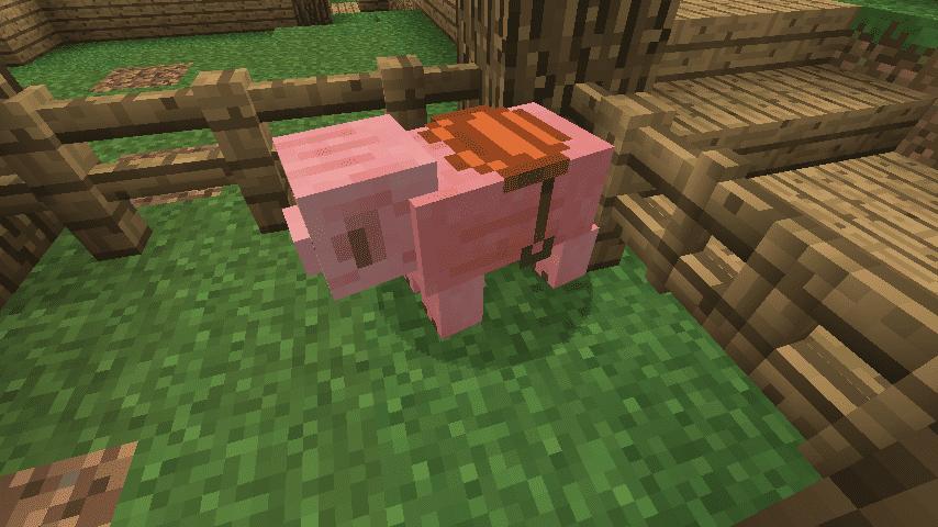 Седло на свинье Майнкрафт