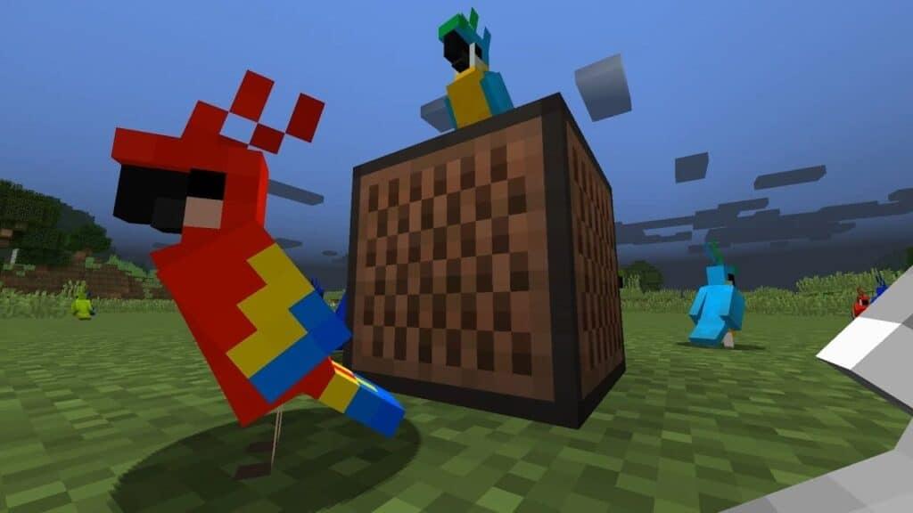 Разведение попугаев Minecraft