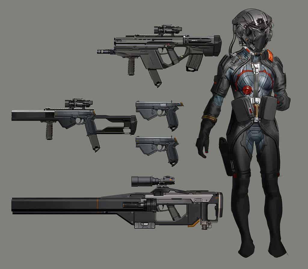 Оружие Киберпанк 77