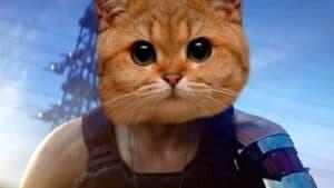 Питомец кот в киберпанке