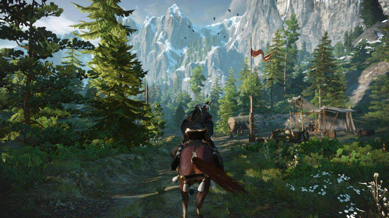 The Witcher 3: Wild Hunt анимация в игре