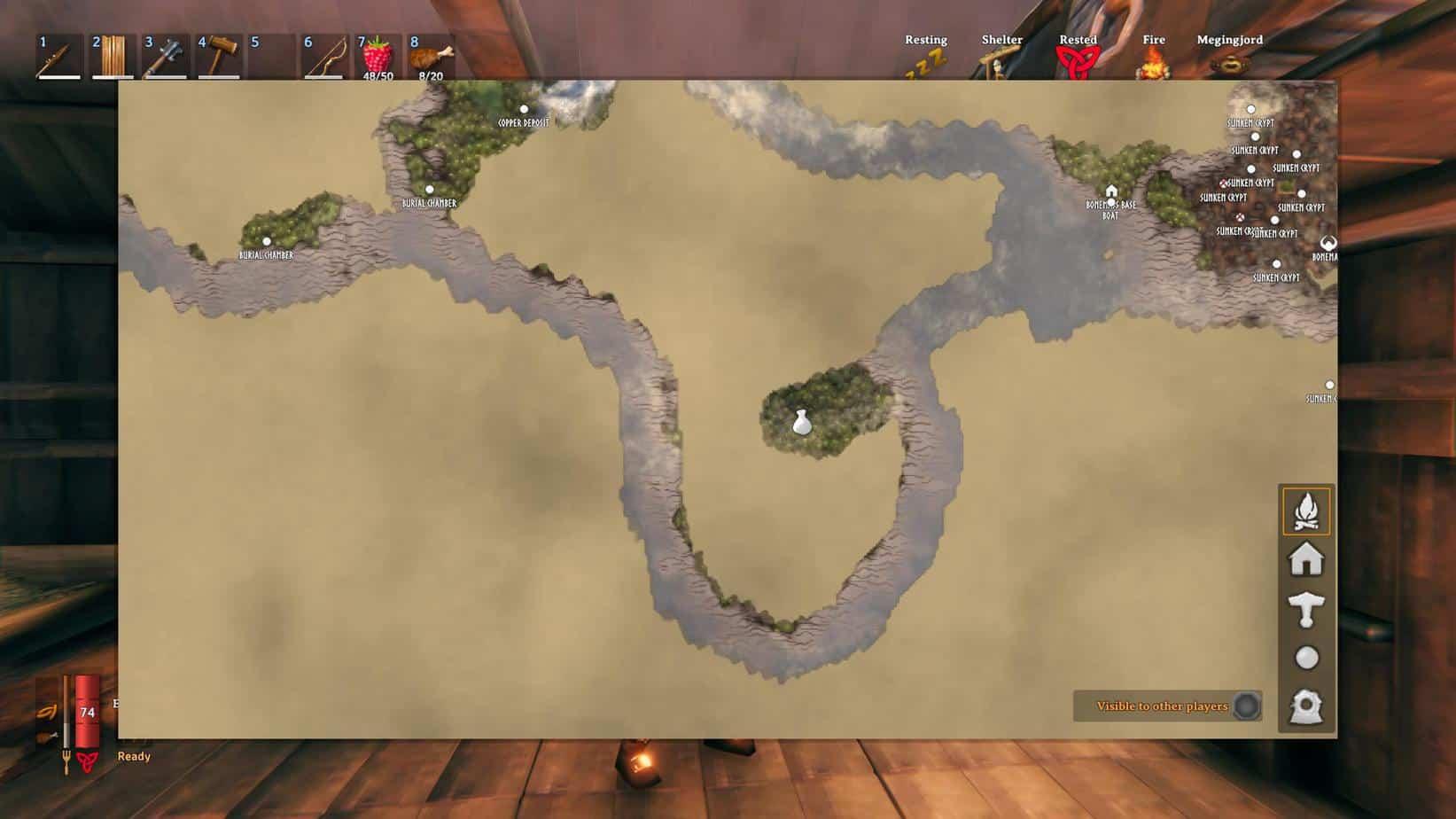 Торговец на карте Вальхейм