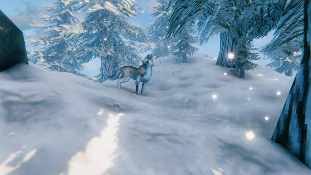 Волки в горном биоме Вальхейм