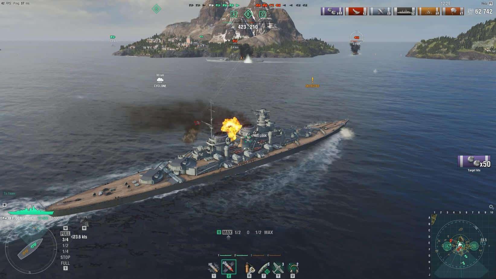 World of Warships исторические сражения