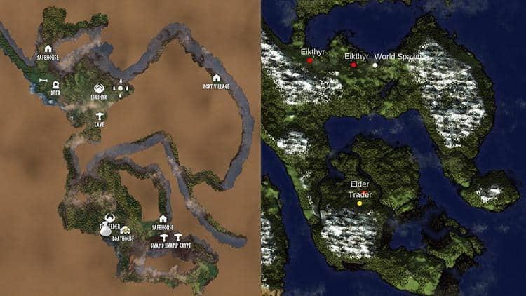 Как пользоваться картой Valheim