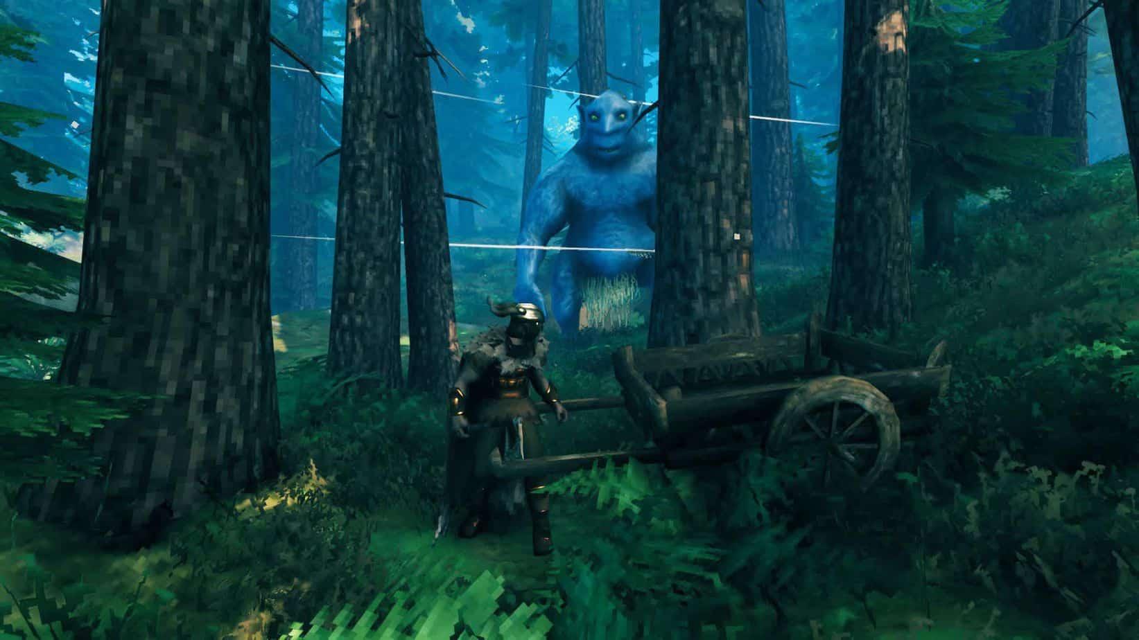 Valheim биом черный лес враги
