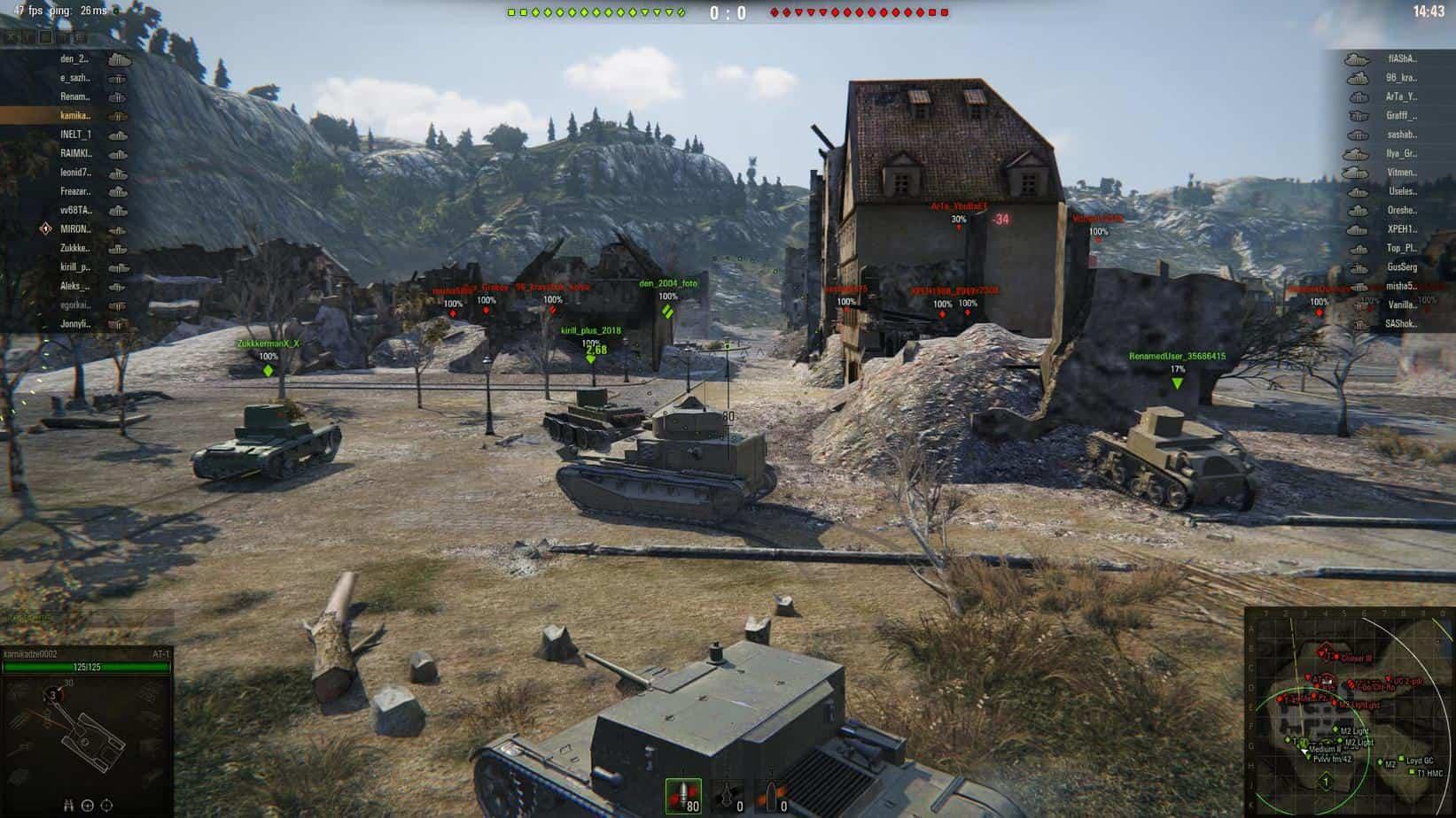World of Tanks система развития