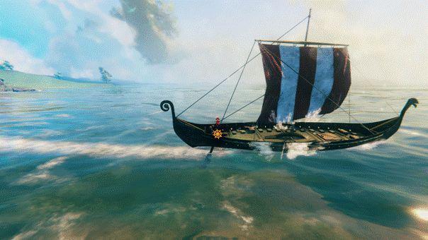 Как управлять кораблем в игре Walheim