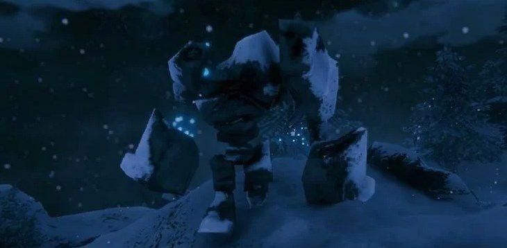 Каменные големы в горном биоме Вальхейм
