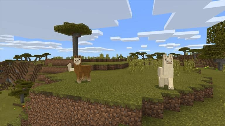 Ферма лам в Minecraft