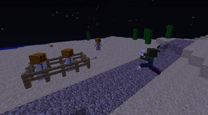Снежный голем для защиты Майнкрафт