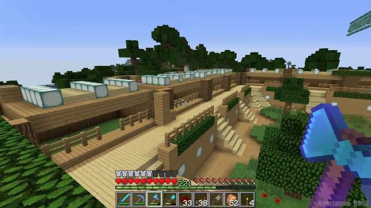 Ферма для овец Майнкрафт