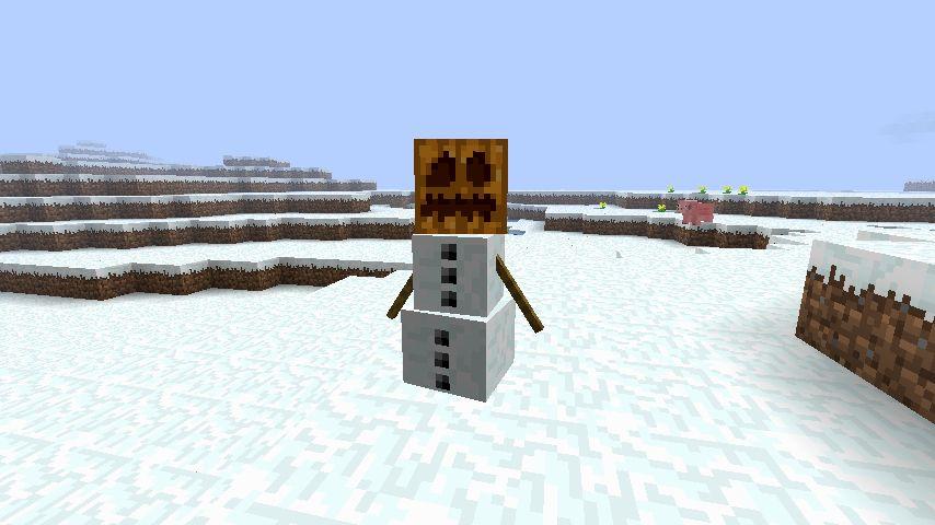 Снежный голем Майнкрафт