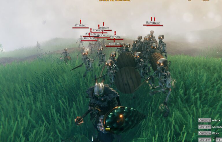 Скелет в Valheim: гайд по враждебному существу