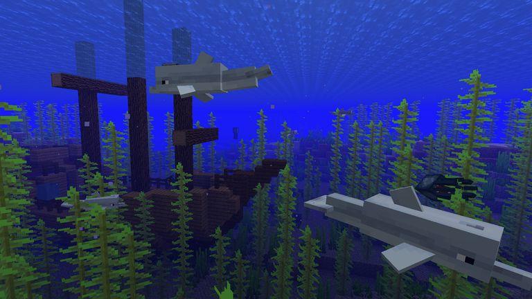 Как приручить дельфина в Майнкрафт
