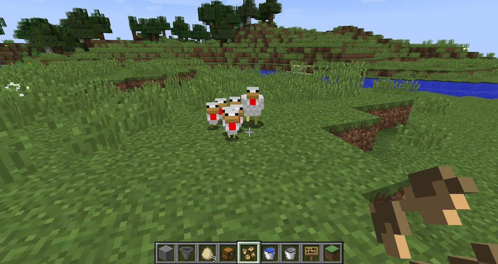 Как сделать курицу в игре Майнкрафт