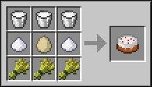 Яйца курицы Майнкрафт в крафтинге