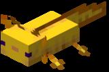 Золотой аксолотль майнкрафт