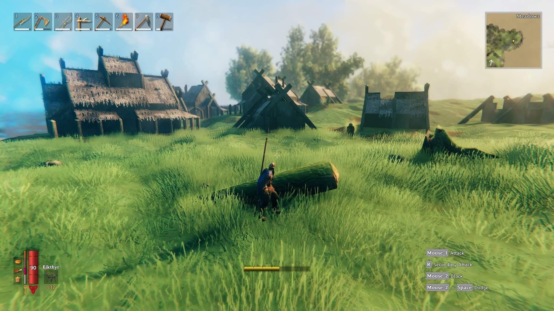 Деревня драугров на Лугах