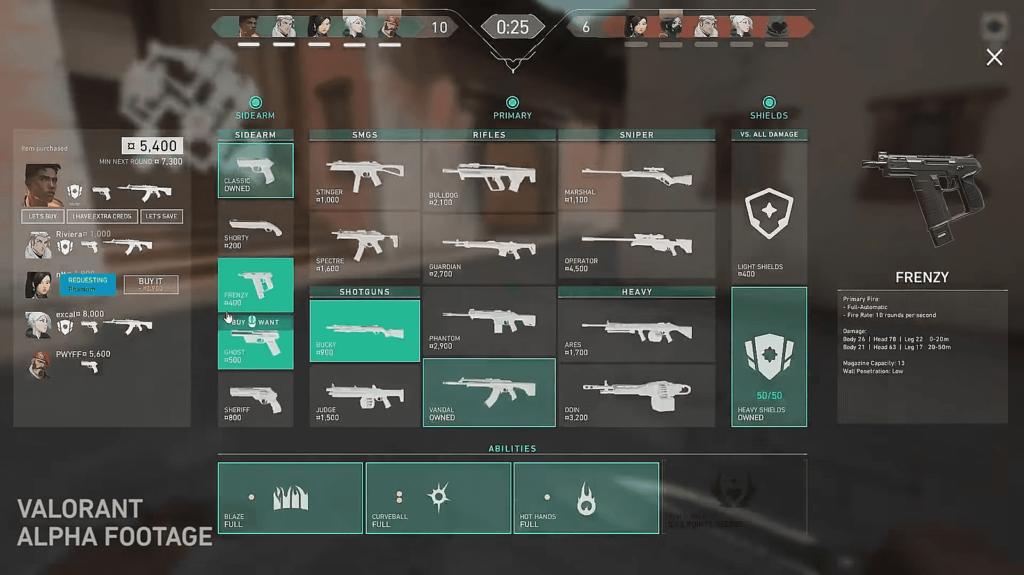 Оружие в игре Valorant