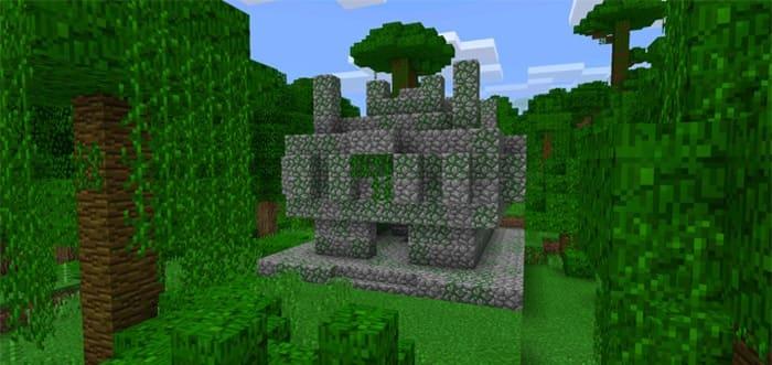 Храм в джунглях Майнкрафт