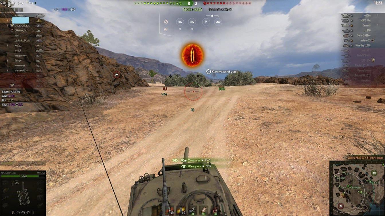 M4A3E8 Sherman бой на карте