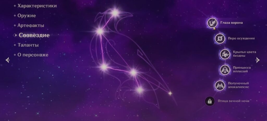 Фишль Геншин Импакт созвездие