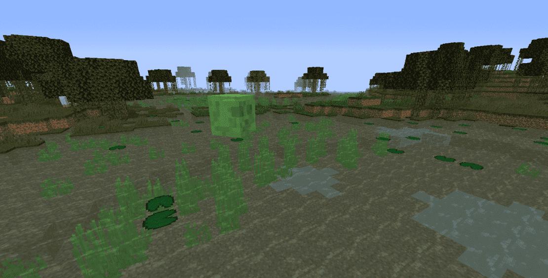 Какие блоки можно найти на болоте