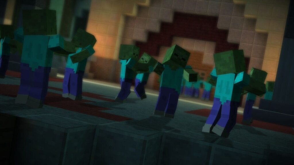 Стиль атаки зомби Майнкрафт