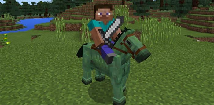 Как сделать зомби-лошадь в Майнкрафте