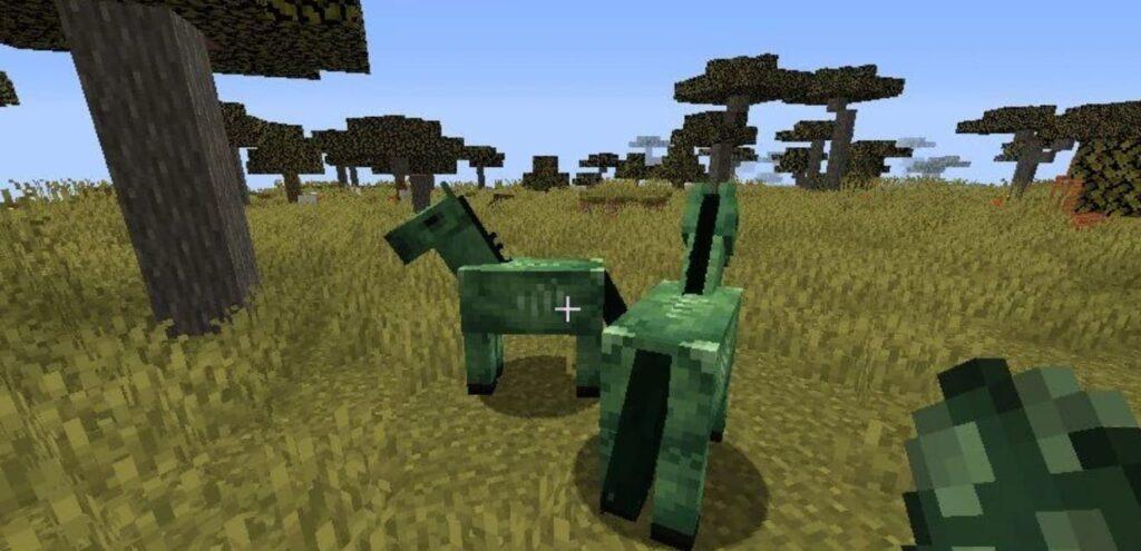 Как заспавнить в творческом режиме зомби лошадь Майнкрафт