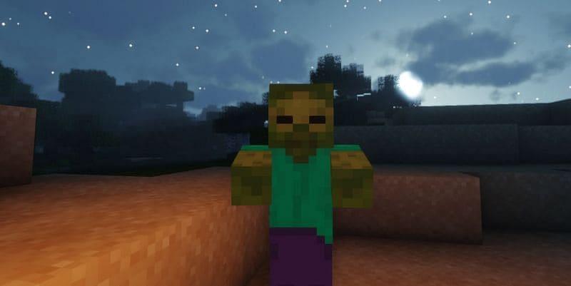 Зомби превращается в утопленника Майнкрафт