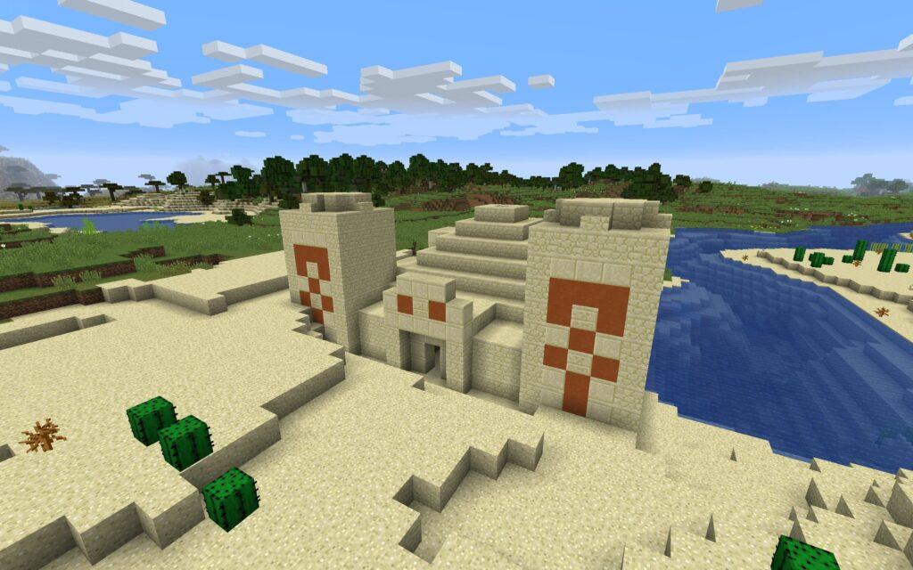 Храм в пустыне Майнкрафт секреты