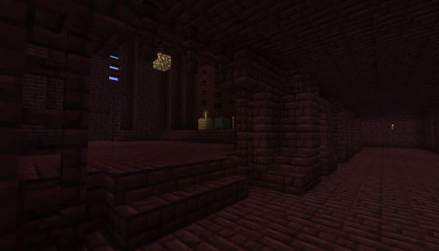 Сиды на адскую крепость в игре Майнкрафт