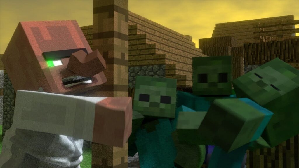 Как вылечить жителя в Minecraft