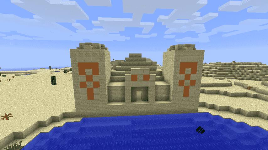 Храм в пустыне Minecraft